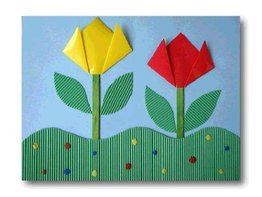tulpen knutselen met kleuters
