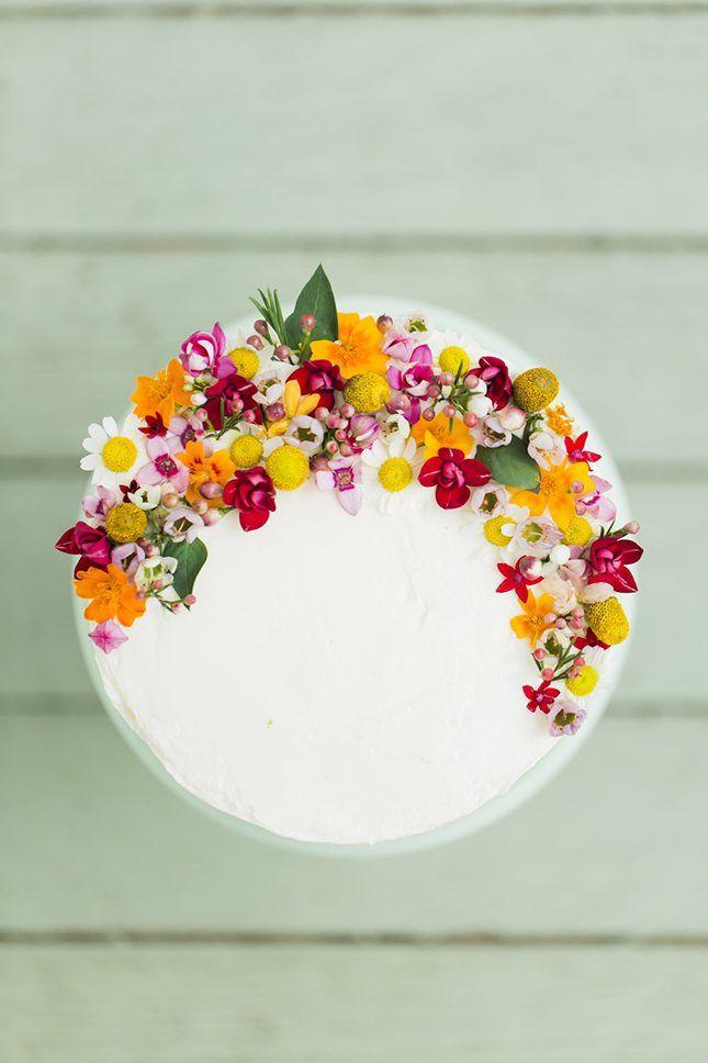 These Edible Flower Wedding Cakes Are Next-Level Gorgeous via Brit + Co