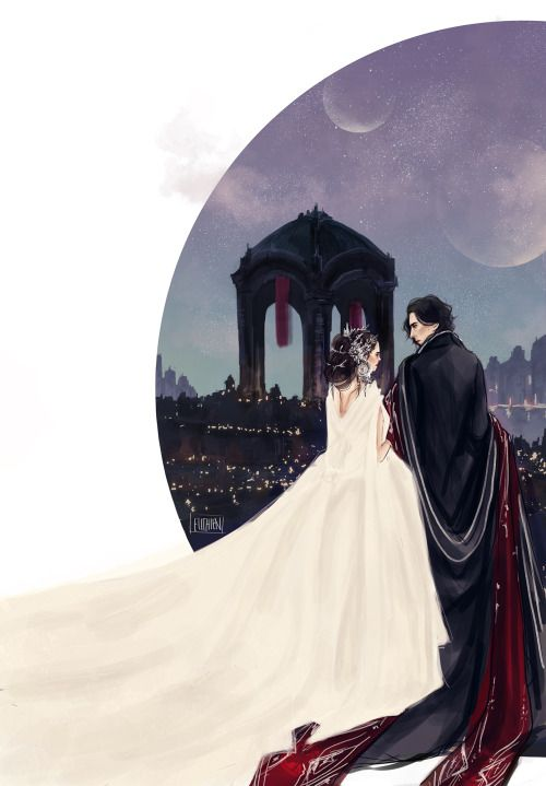Kylo Ren and Rey by elithien. Star Wars
