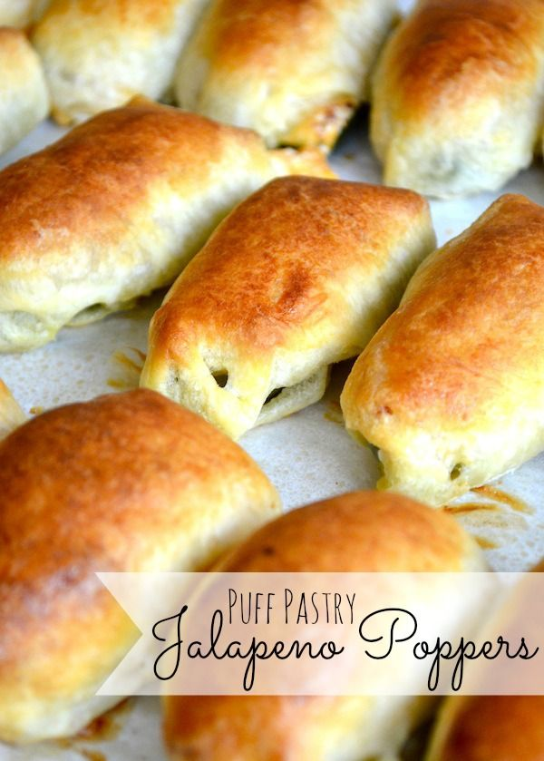 Puff Pastry Jalapeno Poppers...these are awesome :)