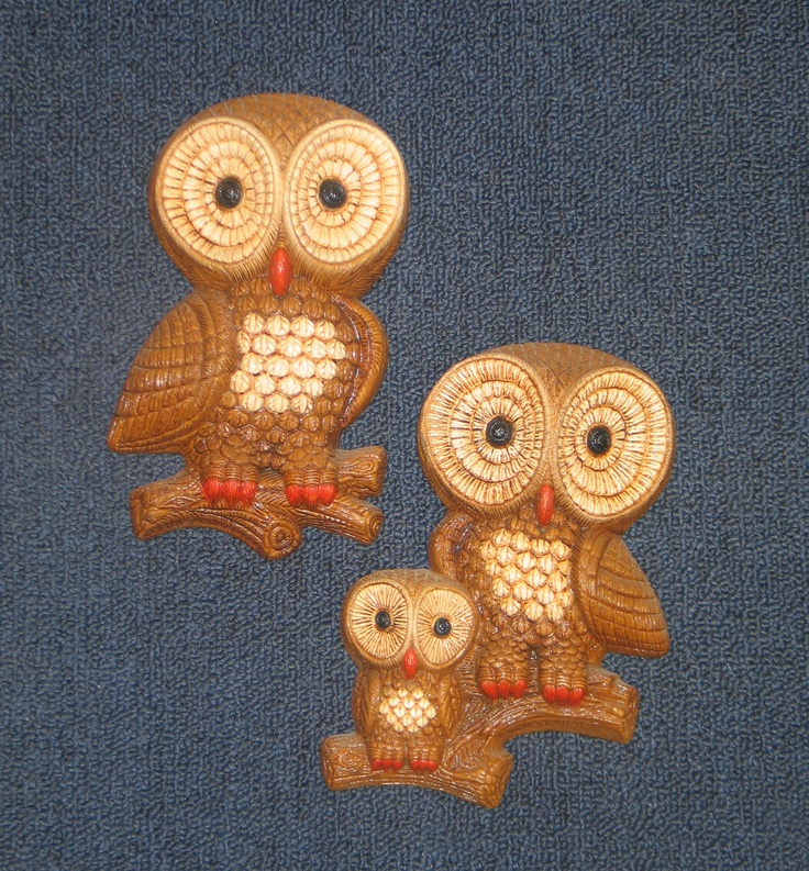 Cute owl wall plaques... like I needed more! | Thrifty McNichol ...