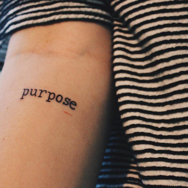 #Purpose #tattoo on Sal @salenabrowne #littletattoo #smalltattoo #life #love #art #awesome #style #girls #fashion #women #tattoofilter