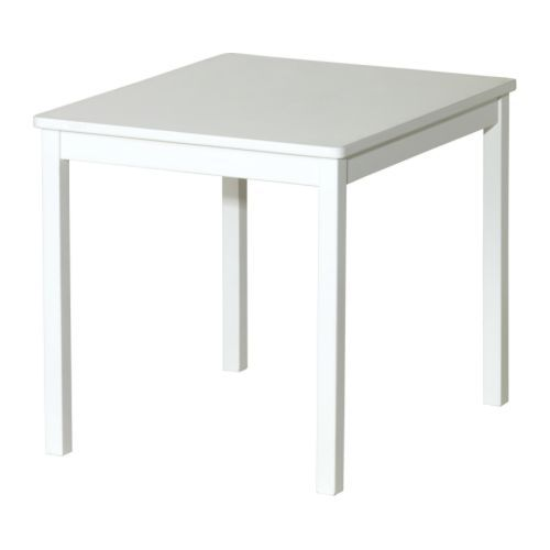 KRITTER Children's table, white 59x50 cm white
