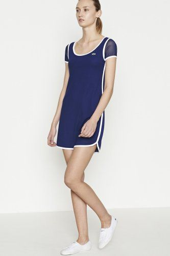 mesh short sleeve tennis dress my style pinterest tennis dress tennis and lacoste. Black Bedroom Furniture Sets. Home Design Ideas