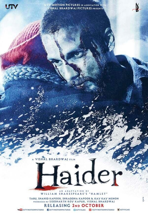 First look poster of Shahid Kapoor's film 'Haider' #Bollywood #Movies