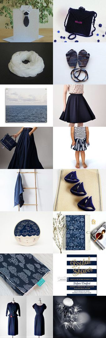 Navy and White by styledonna on Etsy--Pinned+with+TreasuryPin.com