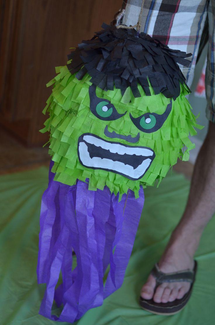 SeeCateCreate Hulk pinata DIY