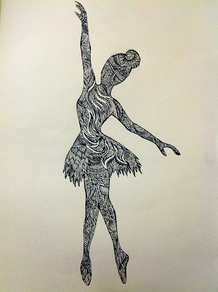 Zentangle Ballerina Template Googleda Ara Pinterest Bsqueda Garabatos Y