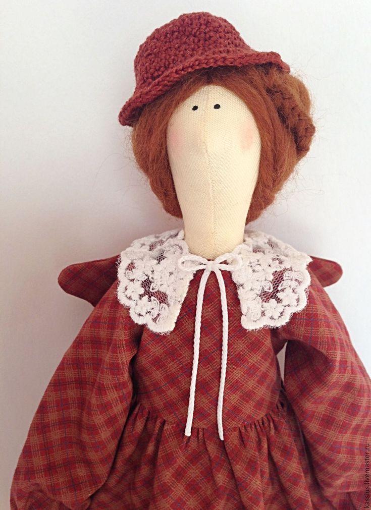 Купить или заказать Мэри Поппинс (Интерьерная кукла ангел тильда ) в интернет-магазине на Ярмарке Мастеров. Леди совершенство: платье в классическую клеточку, кокетливая шляпка ( связана крючком), в руках сумочка-саквояж и, конечно же, зонт. Стиль, уют, строгость и теплота, уют и забота: все в ней! Зонтик сделан вручную.