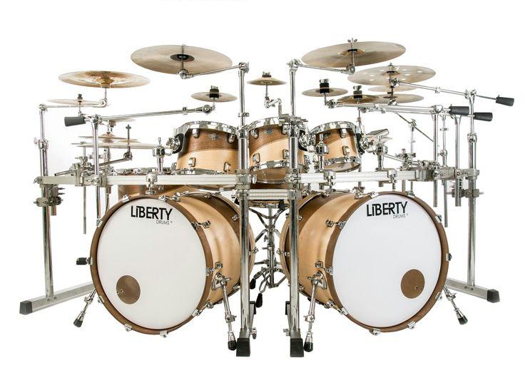 Liberty Drums Rock Series drum set inlay swirl