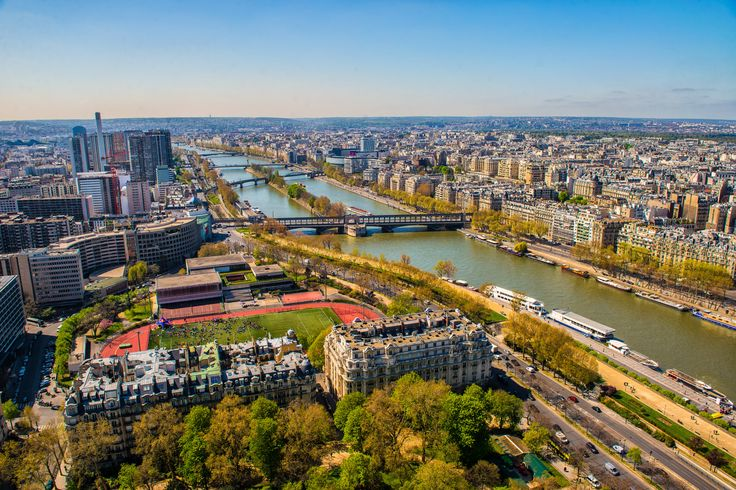 Seine river - Paris - Seine river, view from Eiffel tower