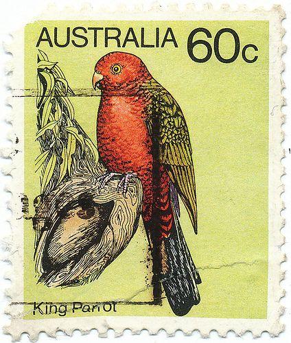 1980 Australian Stamp - King Parrot