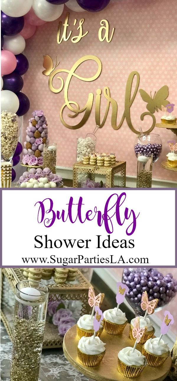 Butterfly-Butterfly Shower-Butterfly baby shower Ideas-Butterfly shower Decor-Butterfly cupcake toppers-www.SugarPartiesLA.com