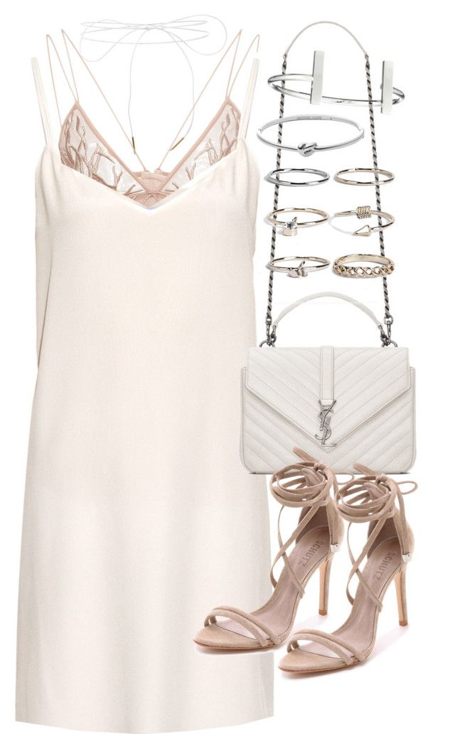 """""""Untitled #19770"""" by florencia95 ❤ liked on Polyvore featuring Lilou, Jonathan Simkhai, Raey, Yves Saint Laurent, Schutz, Boohoo, French Connection and Michael Kors"""
