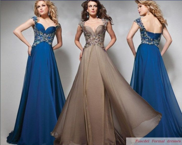 Cap Sleeve Beads Wedding Party Pageant Ball Prom Gown Long Formal Evening Dress8