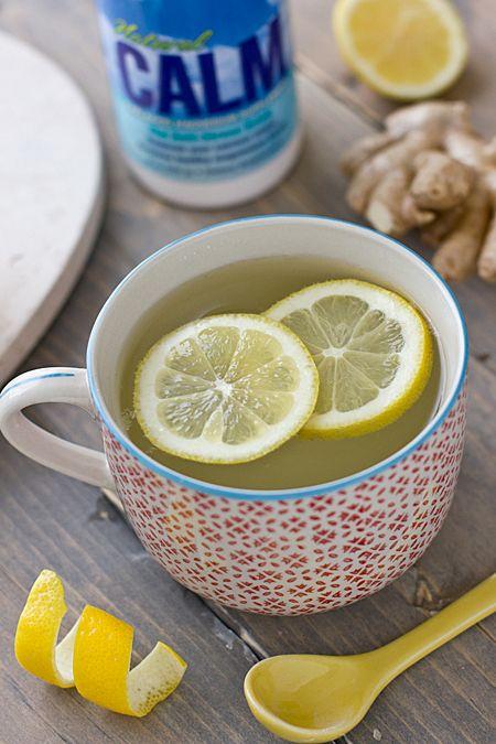 Natural Calm Lemon Ginger Tea + fighting migraines with magnesium