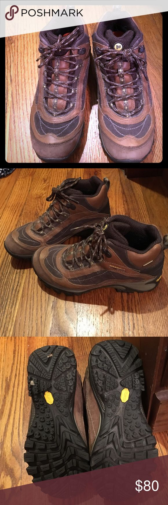 Merrell Hiking Boots Like new Merrill hiking boots. Ladies size 7. Well made and waterproof. Only worn once! Shoes Athletic Shoes