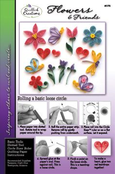 Flowers & Friends Quilling Kit $2.95