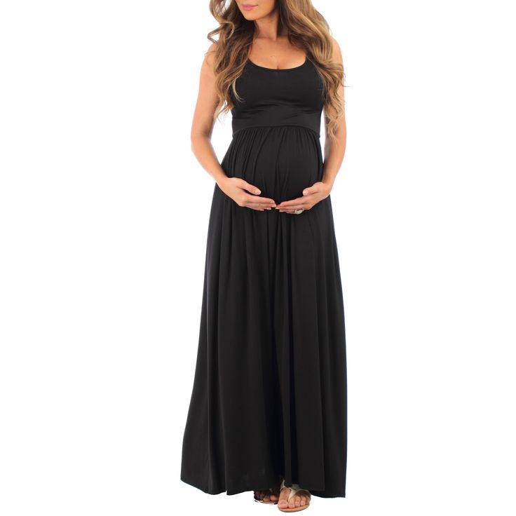 Mother Bee Women's Ruched Sleeveless Maternity Dress