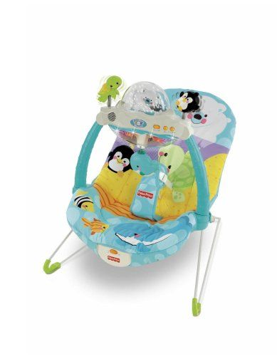 $56.32-$64.99 Baby Fisher-Price Precious Planet Snow Globe and Lights Bouncer - A magical snow globe, light-up aquarium, and lots of motion keep baby entertained! Music, lights and sounds play when baby bats the blue whale. You can switch to the long-play setting for up to 20 minutes of music, lights and motion, or keep things quieter with nature sounds alone. And when it?s time for rest, the to ...