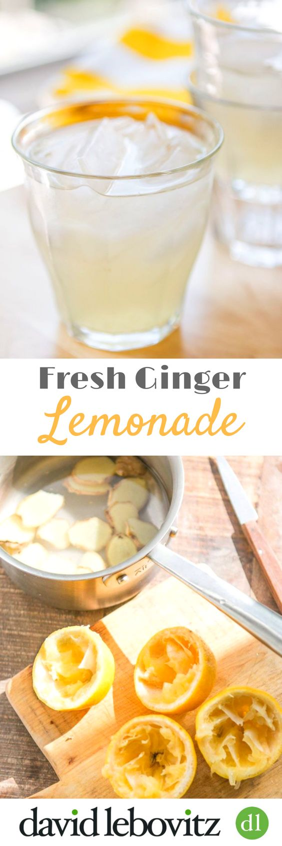 Try this refreshing fresh lemonade recipe with the zing of fresh ginger. It's the perfect summer beverage for a picnic, bbq, or outdoor party!