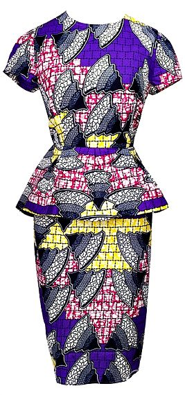 Mishelle African Print Peplum Midi Dress in Purple. Make a bold fashion statement with the eye-catching pattern of the Peplum Midi Dress. This modern design features a mix of prints for head-turning results. For added flirt, the dress features a pretty peplum at the waistline. (affiliate)