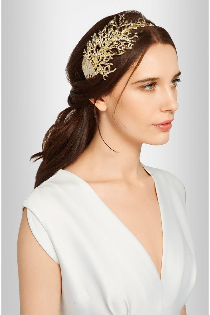 Swoon over jannie baltzer s wild nature bridal headpiece collection - Rosantica Coralli Gold Tone Headband Net A Porter