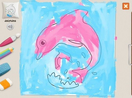 """""""Dolphins"""" - Julia (age 5). #coloring #pages #memollow"""