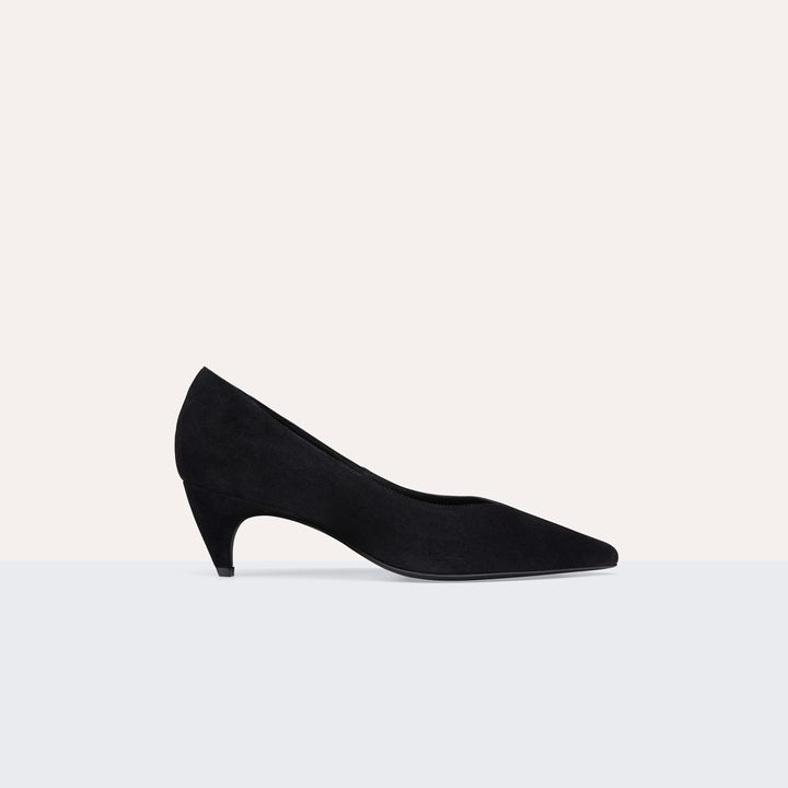 Maje Suede leather court shoes with cut-out