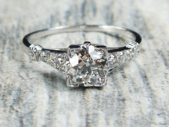 Hey, I found this really awesome Etsy listing at https://www.etsy.com/listing/244802595/vintage-diamond-engagement-antique