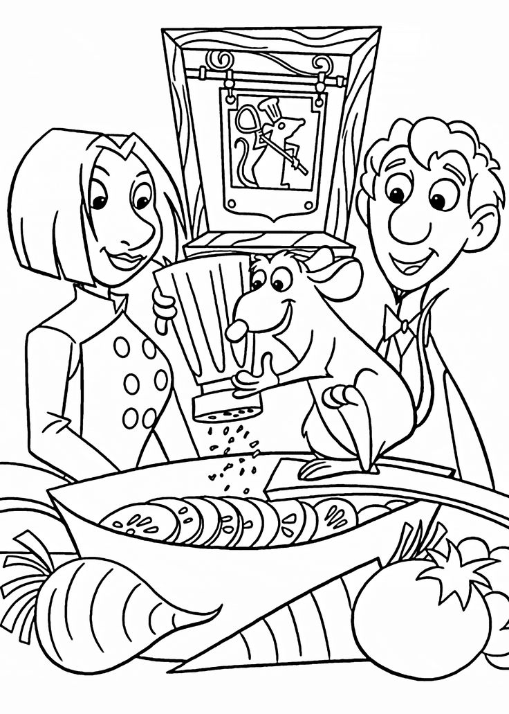 Ratatouille cooking coloring pages
