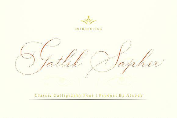 Gatlik Saphir (Intro Sale) by Alcode on @creativemarket