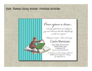 Wording For Baby Shower Invites To Bring Books