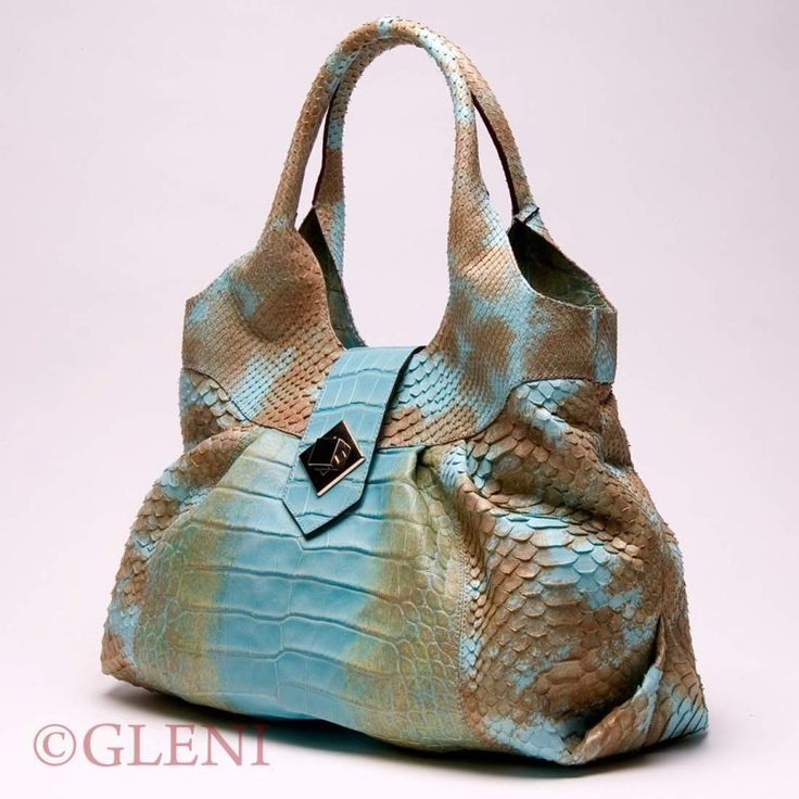 From ItalianModa : GLENI - 4857 - Crocodile handbag