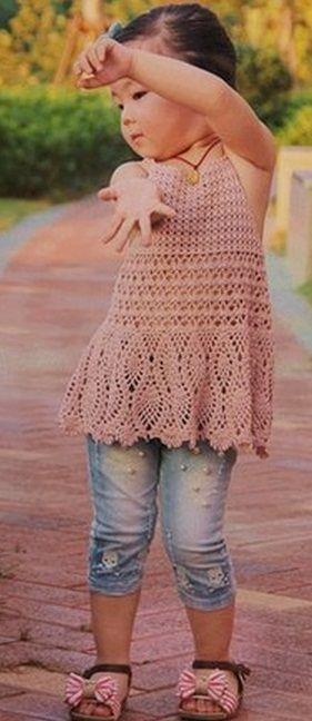 tunic for girls crocheted | make handmade, crochet, craft
