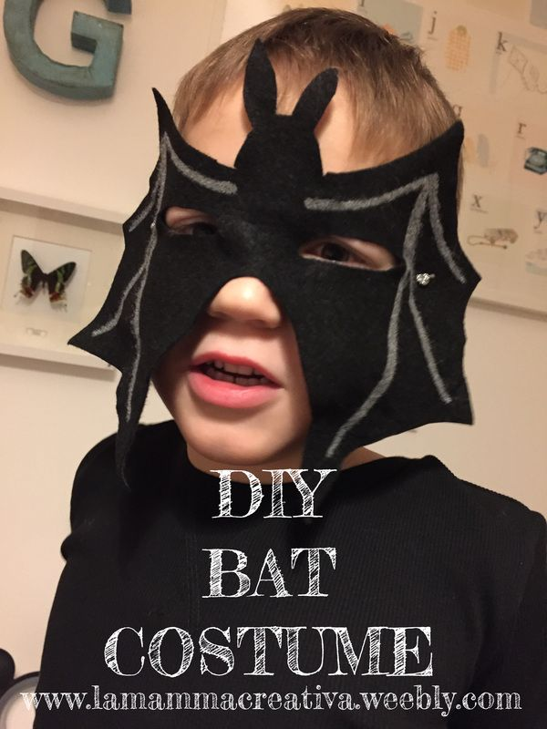 Costume da pipistrello facile e veloce!  Easy DIY bat costume!