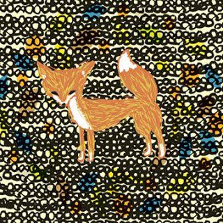 a fox on pebbles
