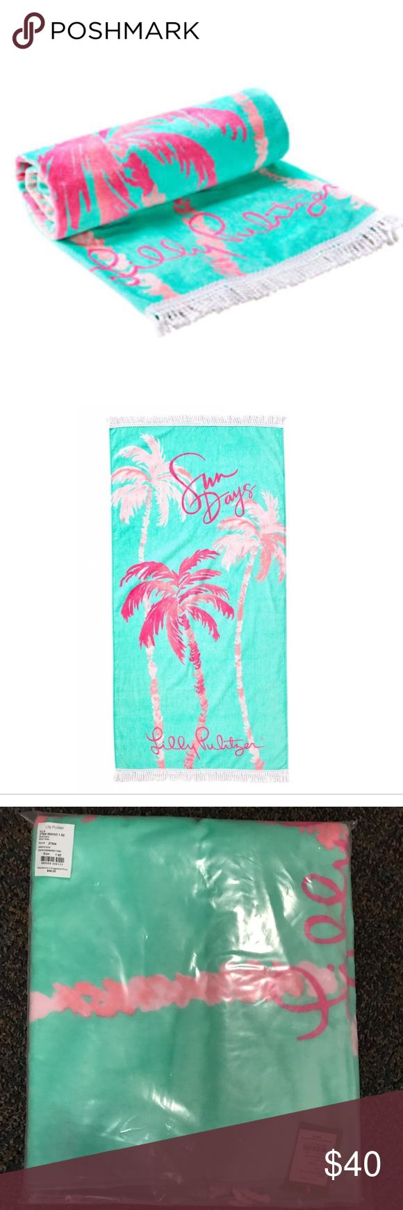 "Lilly Pulitzer Boho Towel Don't be boring with a plain towel and be the talk of the beach with the Boho Towel. Engineered and full of color for the sunniest of days.   Printed Towel With Fringe Trim. Measures 30""W X 60""L. Velour Terry. Machine Wash Cold. Imported. Lilly Pulitzer Accessories"