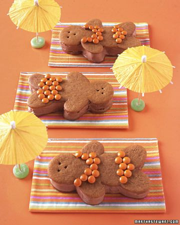 Chocolate-Ginger Bathing Beauties by marthastewart: Cookie fun! #Cookies #marthastewart #Kids