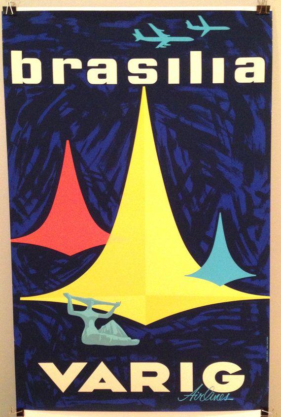 Varig Airlines 1950s Brasilia