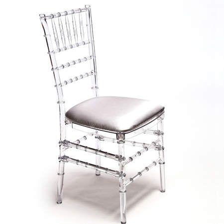 Classic Party Rentals Chiavari Resin Clear Chair