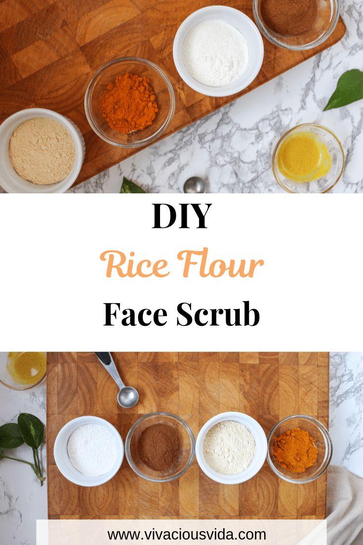 Diy rice flour face scrub vivacious vida recipe rice