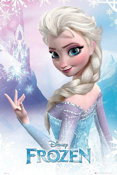 Póster Elsa. Frozen: El Reino del Hielo Precioso póster con la imagen de Elsa perteneciente a la película de animación Frozen: El Reino del Hielo.