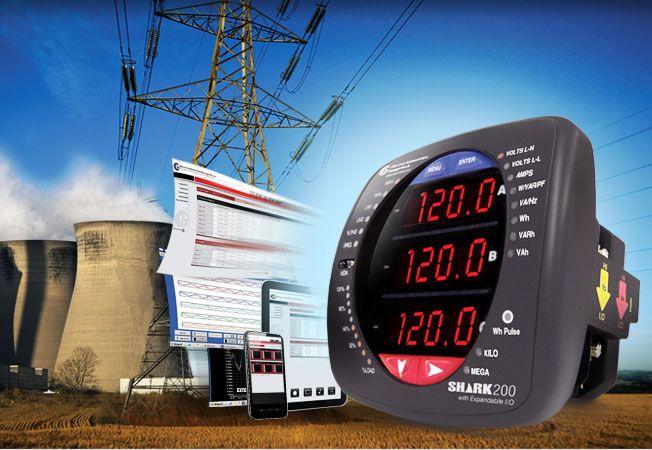 Power Meter, Data - logging, Ethernet, power quality, IEC 61850, revenue grade, Modbus DNP - Shark 200 Meter