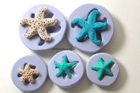 Kit stampo silicone flessibile stella marina di PetitMiniatures