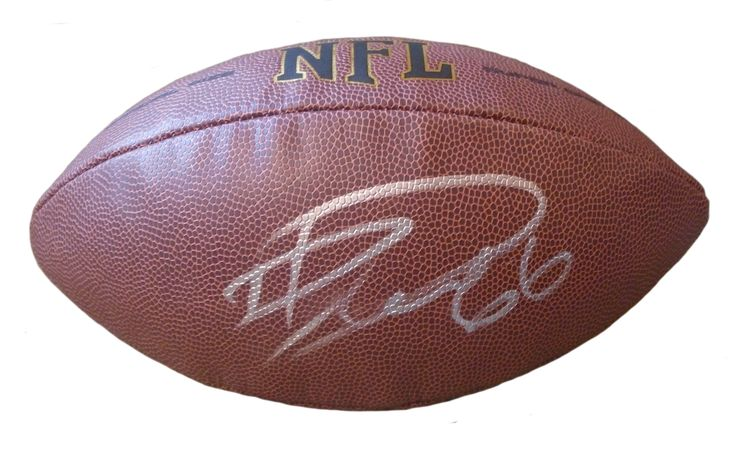 David DeCastro Autographed NFL Wilson Football, Proof