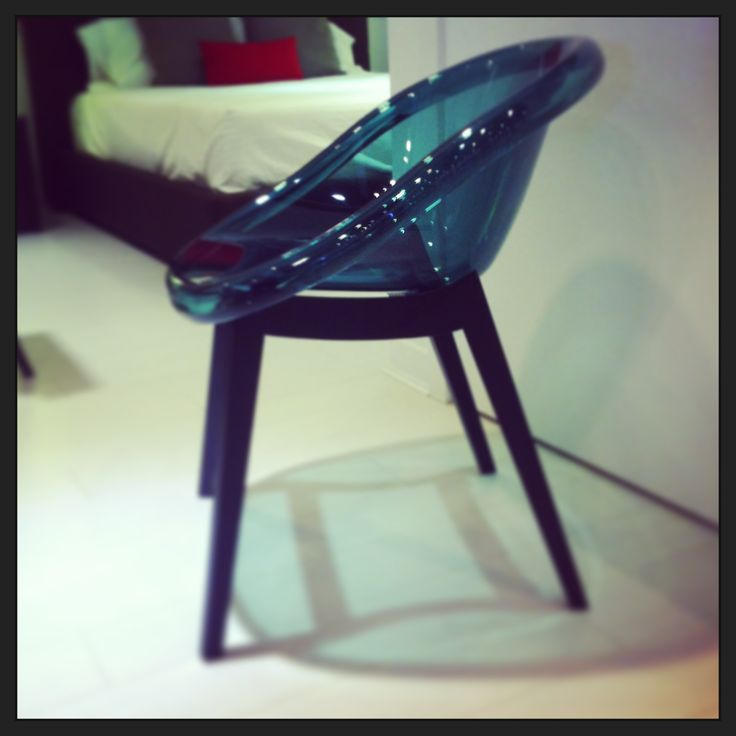 Bloom chair by Calligaris. Comes in an assortment of colours and is availablein a chrome base