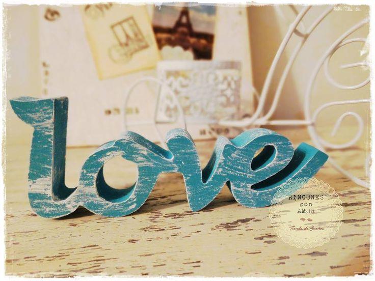Home - Love - Peace - Relax en madera.Pintadas, decapadas y barnizadas a manoMiden aprox 14cm de largo.