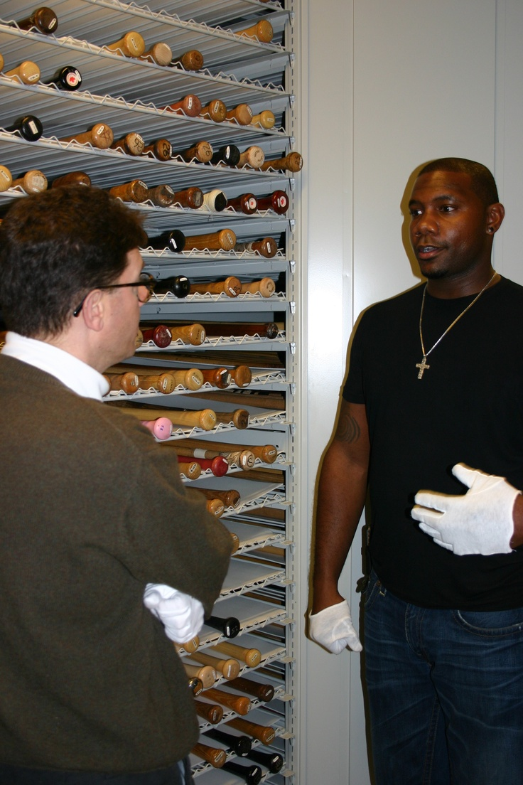 Phillies 1B Ryan Howard visited the National Baseball Hall of Fame and Museum on Monday, Nov. 19 -- his 33rd birthday. Howard talks with Hall of Fame senior curator Tom Shieber during his tour.