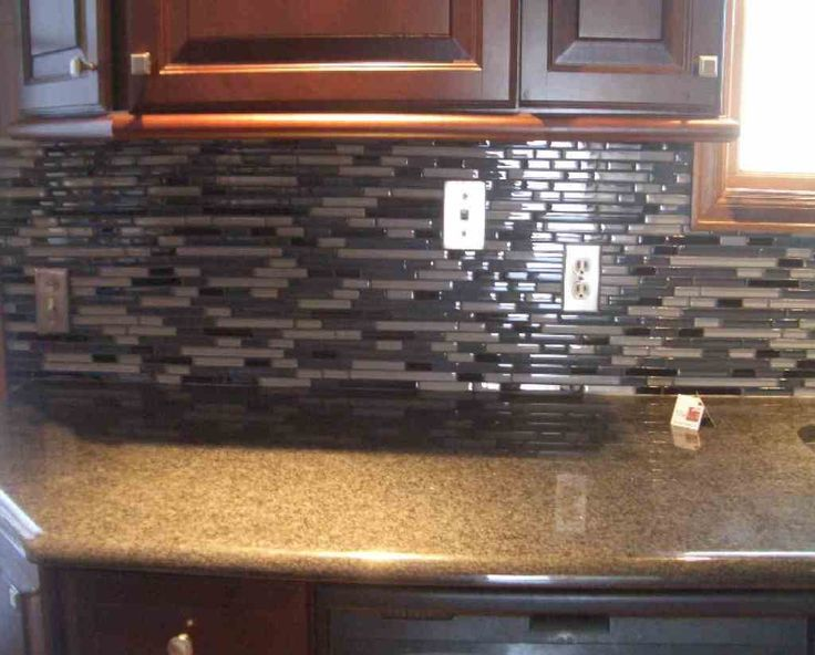 Kitchen  Fascinating Brown Granite Countertop With Mosaic Kitchen Backsplash Tile Also Wooden Cabinets These Backsplash Styles will Change your Kitchens